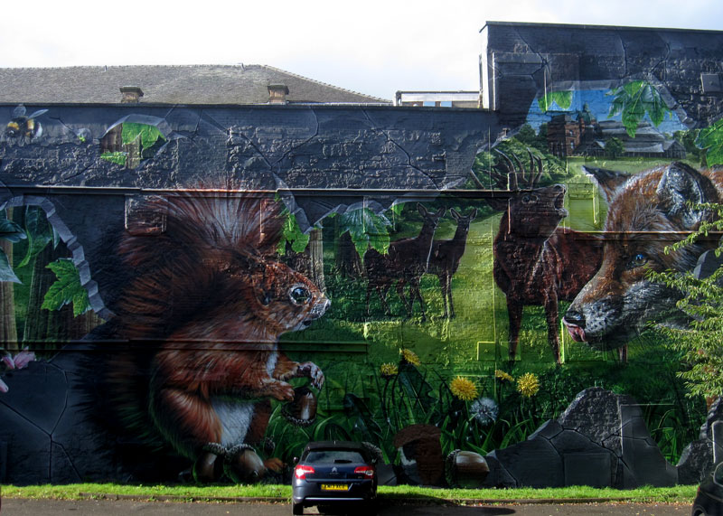 Glasgow Graffiti Forest